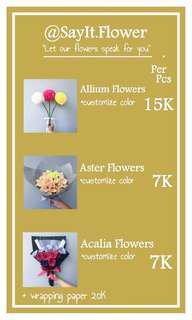 bunga untuk wisuda, hadiah, bisa bunga karakter juga