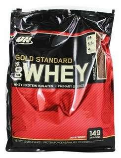 Optimum Nutrition Gold ON  Protein Whey 10 lb Vanilla Ice 5lbs x2 larg