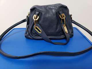 Chloe 藍色真皮手袋