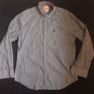 BARACUTA Black White Checkered Design Long Sleeve