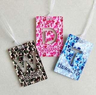 Camo bag tag - luggage tag acrylic