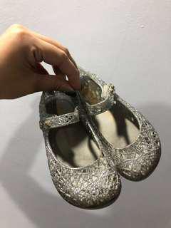 Authentic Mini Melissa Campana Silver Glitter USA 8 Preloved