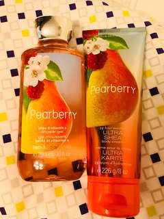 Bath & Body Works Pearberry Shower Gel and Body Cream