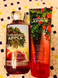 Bath & Body Works Country Apple Shower Gel and Body Cream