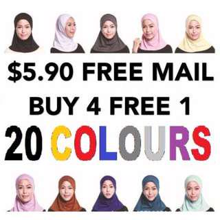 Mini Instant Tudung Hijab FREE MAIL for Adults and Kids