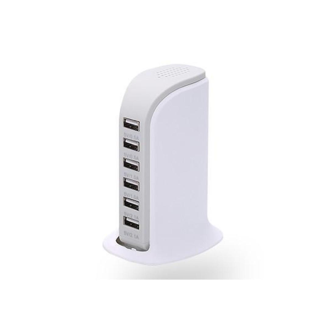 6 Port USB Power adapter - White