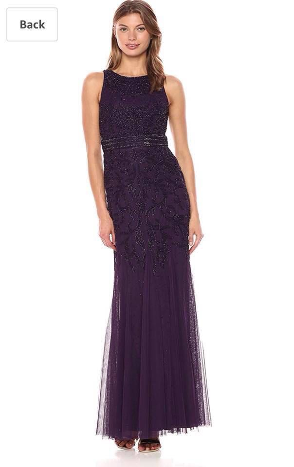 Adrianna Papell Mermaid Gown, Preloved Women\'s Fashion, Clothes on ...