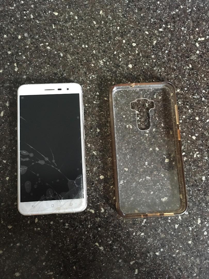 Asus zenfone 3 - 64 GB (cracked screen, headphone jack)