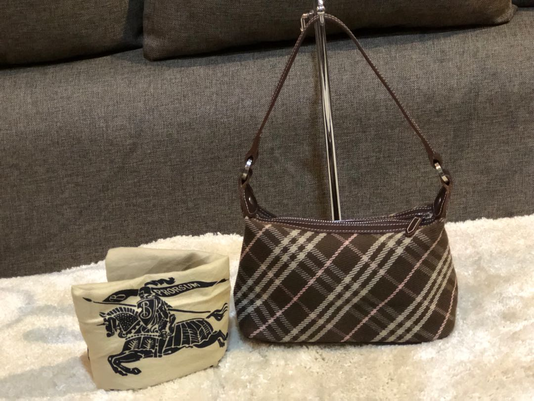 Authentic Burberry Blue Label Pochette With Dustbag 55f344c66fb03