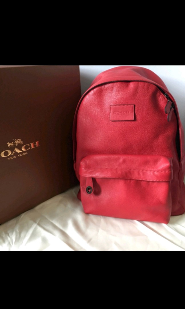 6e6077a91665 Authentic COACH Campus Backpack in Refined Pebble Leather