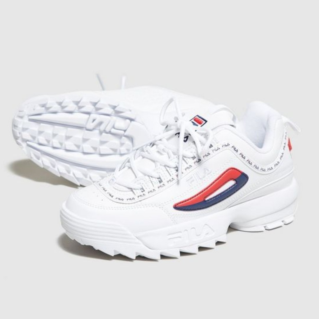 44f550d33f7b Authentic Fila Disruptor II White Repeat