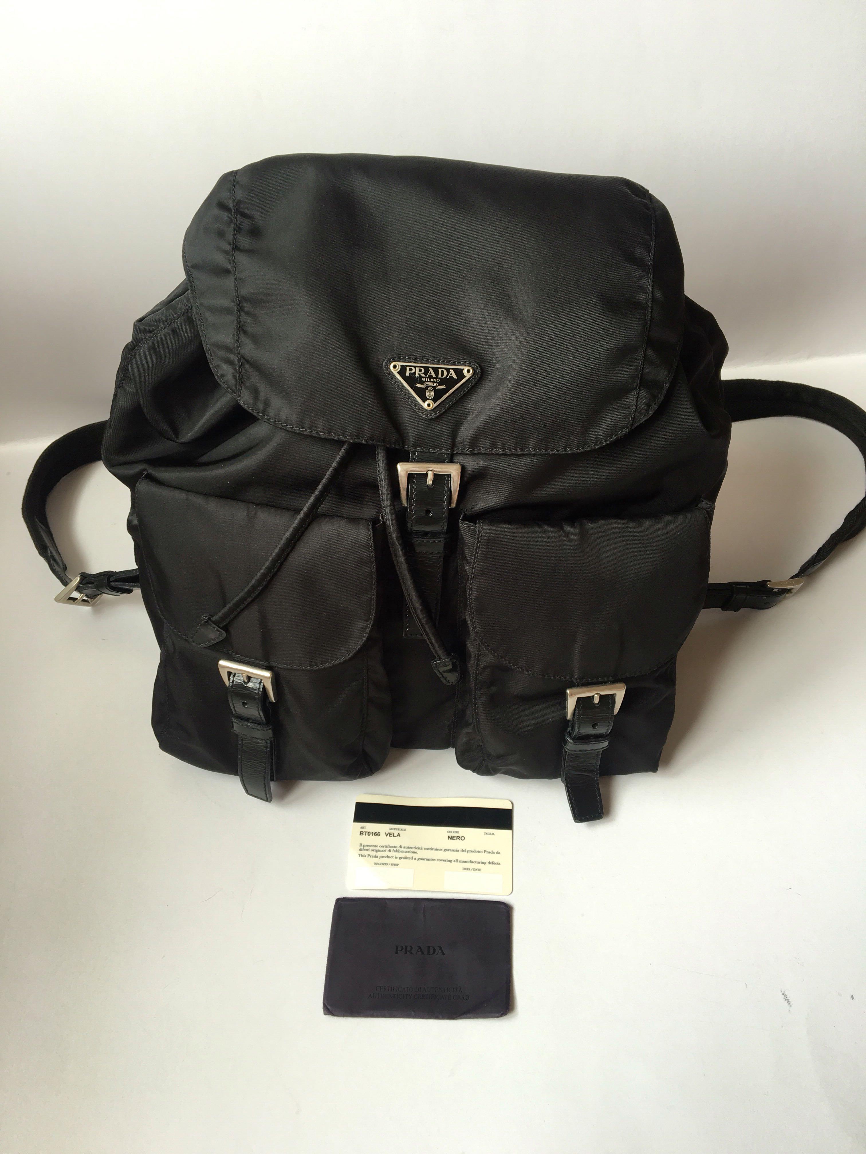 529c51339009 Authentic Prada Vela Nylon Black Medium Backpack, Luxury, Bags & Wallets,  Others on Carousell