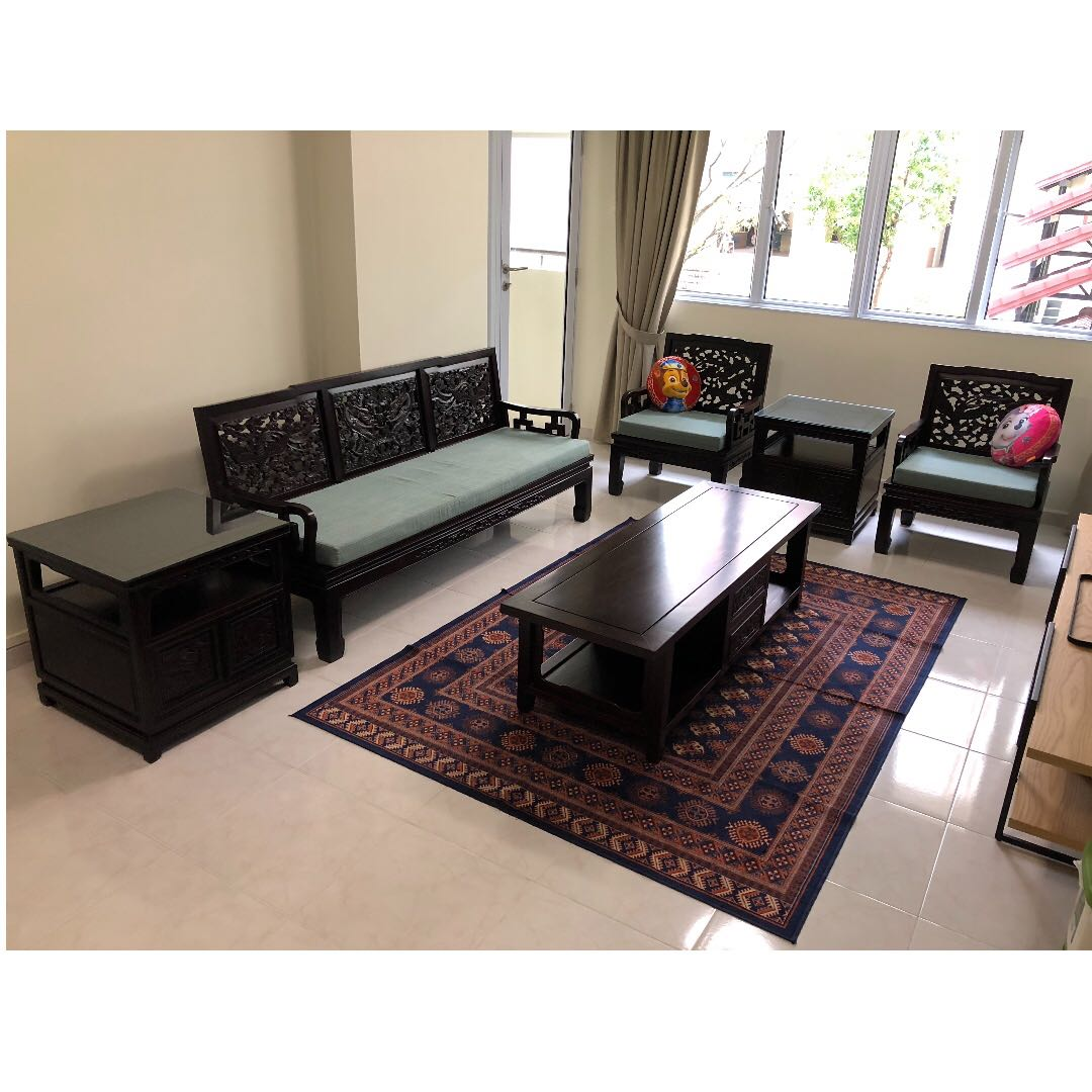 authentic rosewood living room furniture negotiable furniture rh sg carousell com