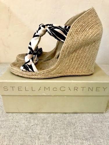 eb174cee37b3a6 authentic Stella McCartney braided Hemp Espadrille Wedge