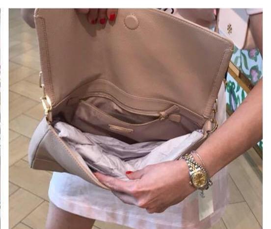 3df98238740c    REDUCED PRICE    BNWT TORY BURCH BRITTEN Fold Over Messenger Crossbody  Bag