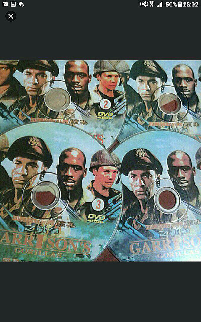 DVD , ENGLISH MOVIE, 4 dvds, Garrison's Gorillas, Prisoners with special  skills are recruited to fight in World War II , First episode date:  September