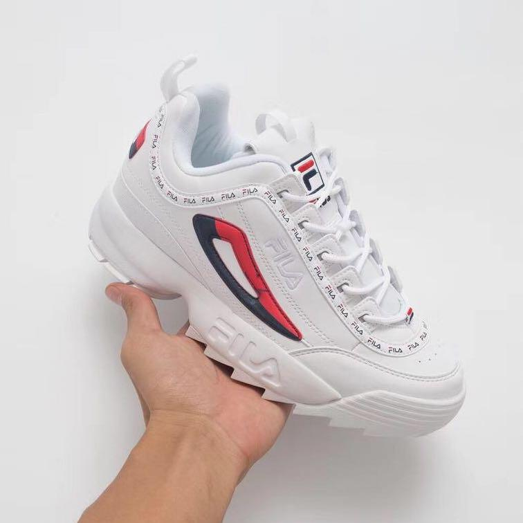 100% genuine casual shoes new list FILA Disruptor II Limited Edition 'Captain America', Women's ...