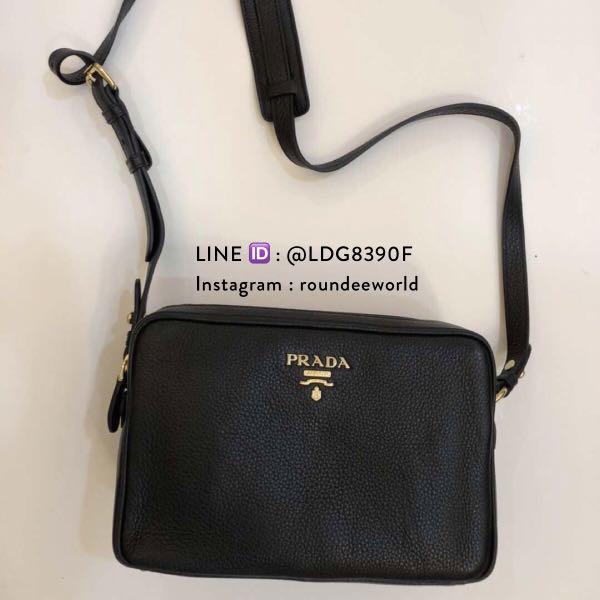 421825bcde1696 Good Price! Prada Vitello Phenix Bandolibra Sling Bag 1BH079 - Black ...