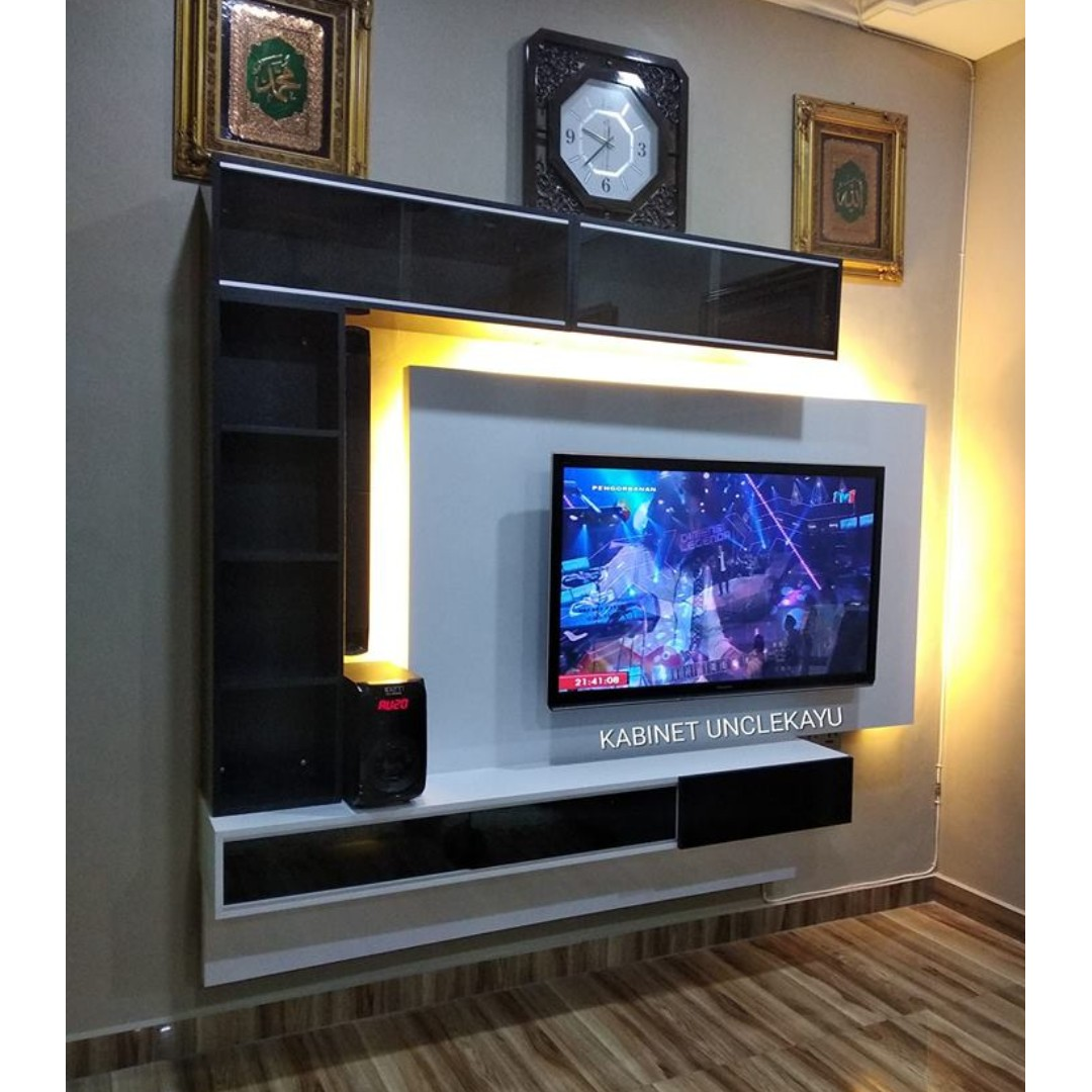 Kabinet Tv Gantung Floating Tv Cabinet Home Furniture Furniture On Carousell