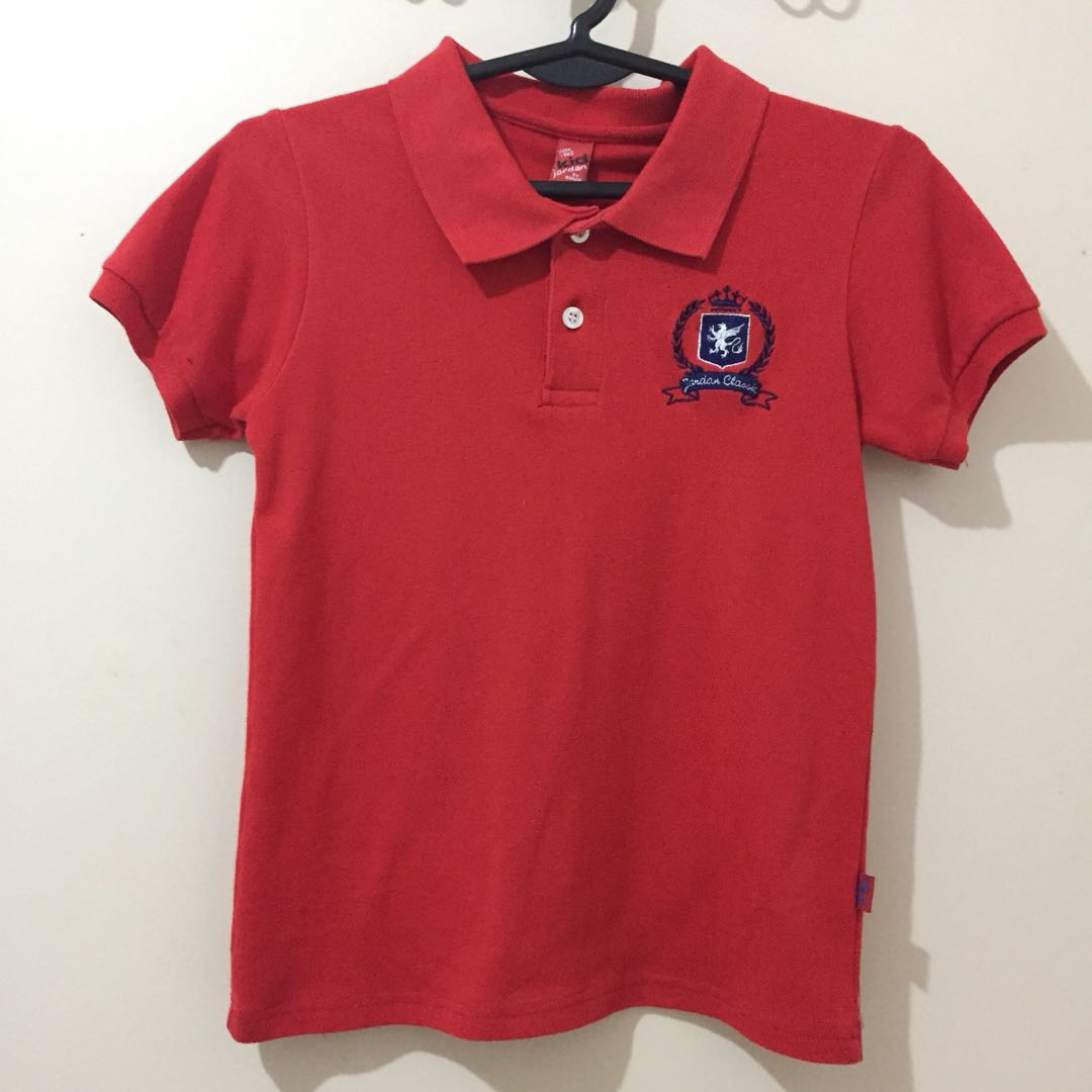 1f92cd27627f Kid Jordan Red Polo Shirt