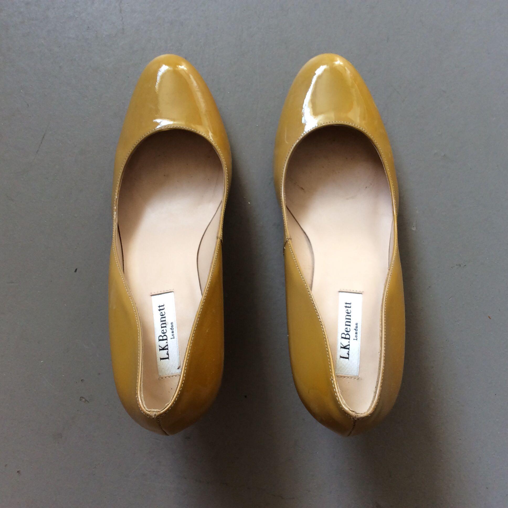 19fb90a136 L.K. Bennett London Sybila Patent (Taupe), Women's Fashion, Shoes ...