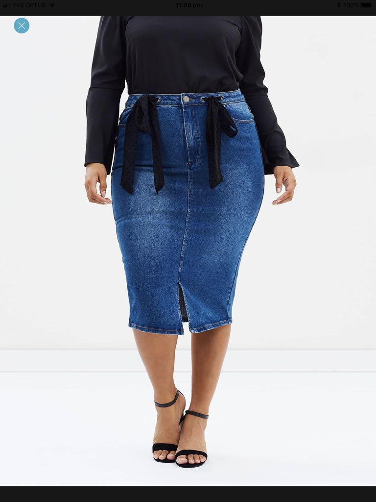 f0c520b42 Lost Ink Plus Denim Pencil Skirt, Plus Size 22, Women's Fashion, Clothes on  Carousell