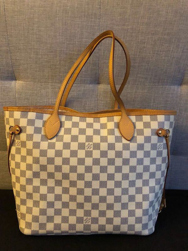 24a414693c48 Louis vuitton lv neverfull white damier