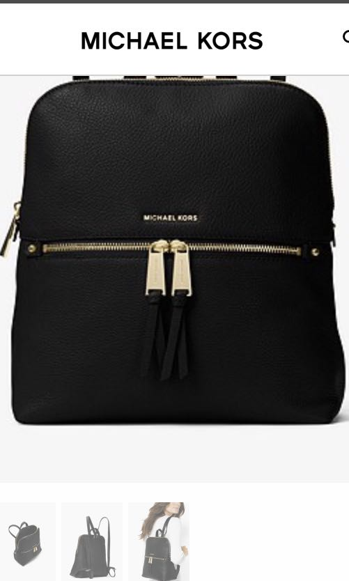 65b0a4bf9e6f Michael Kors Rhea Medium Slim Leather Backpack, Women's Fashion ...