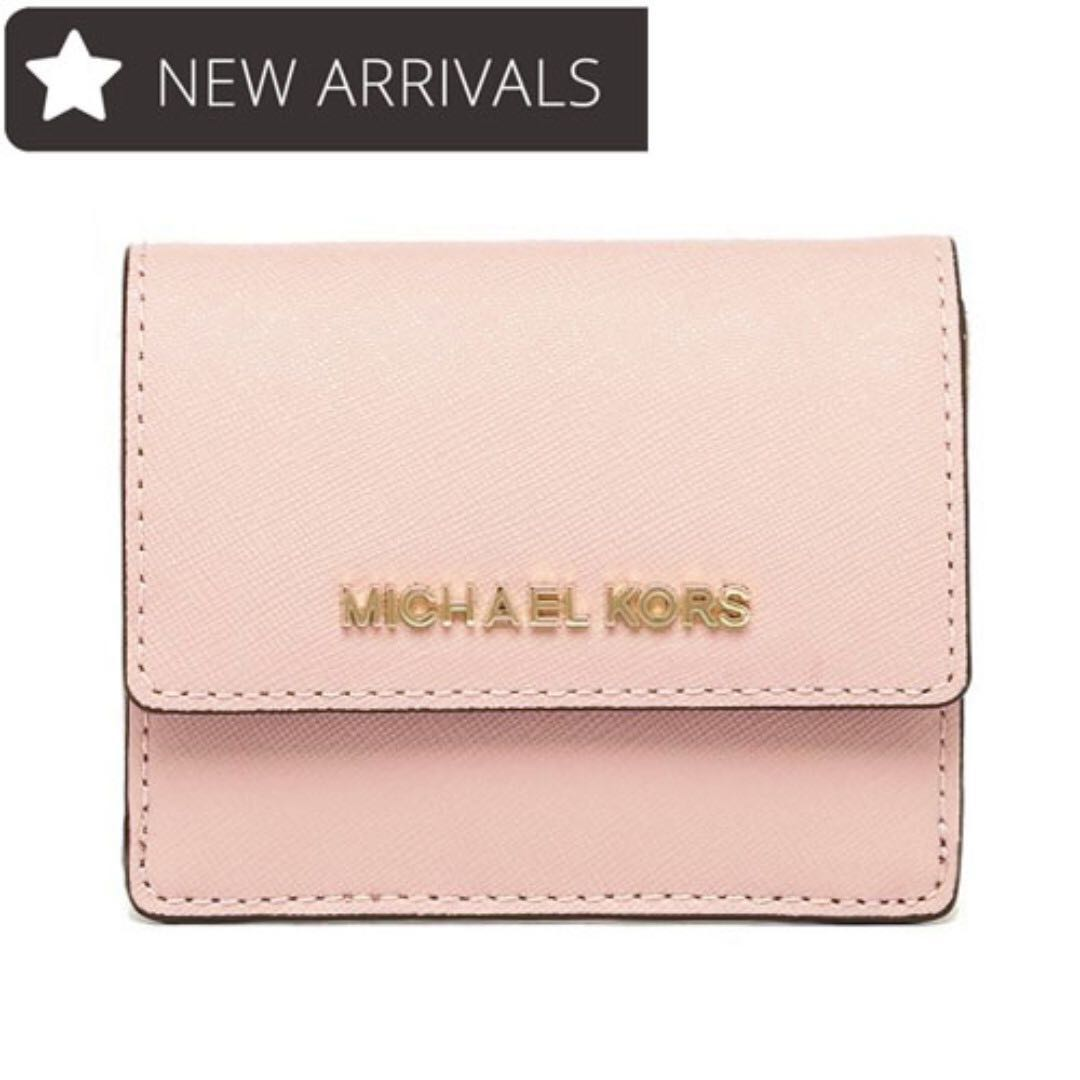 f722e7808a NEW ARRIVAL! Michael Kors Jet Set Travel Card Case Mini Wallet with ...