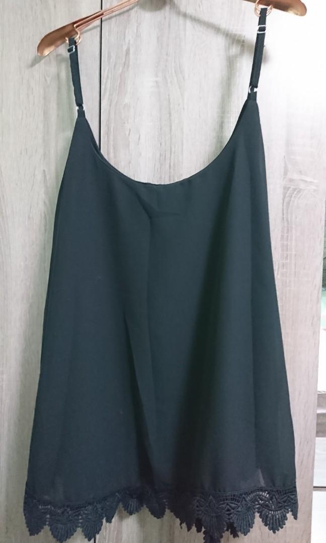 f05fde2722c New Plus Size Black Camisole   Spaggetti UK 22