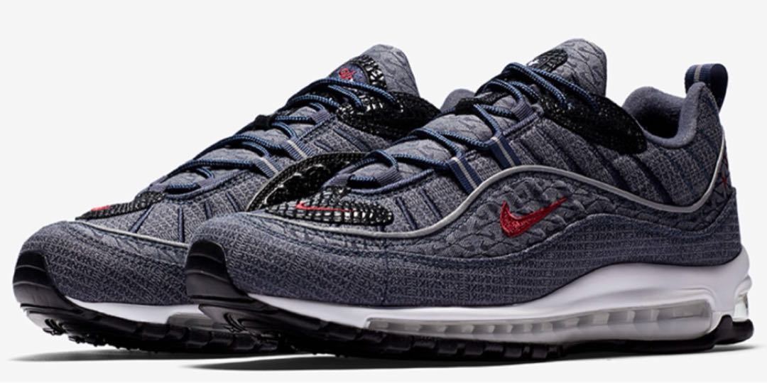 info for 0fe09 ddf7b Nike Air Max 98 Thunder Blue US 10.5 UK 9.5, Men's Fashion, Footwear ...