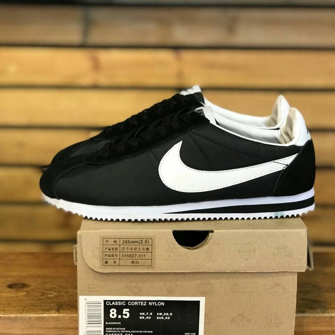 Nike Cortez Black Nylon Olshop Fashion Pria Di Carousell