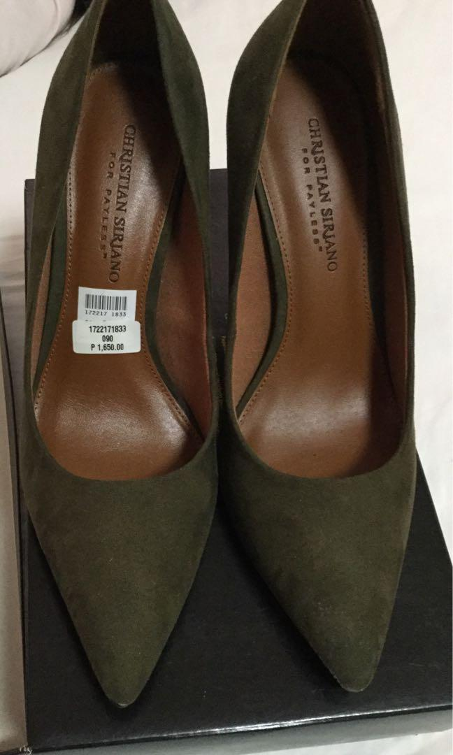Olive Green Pumps BNEW Christian