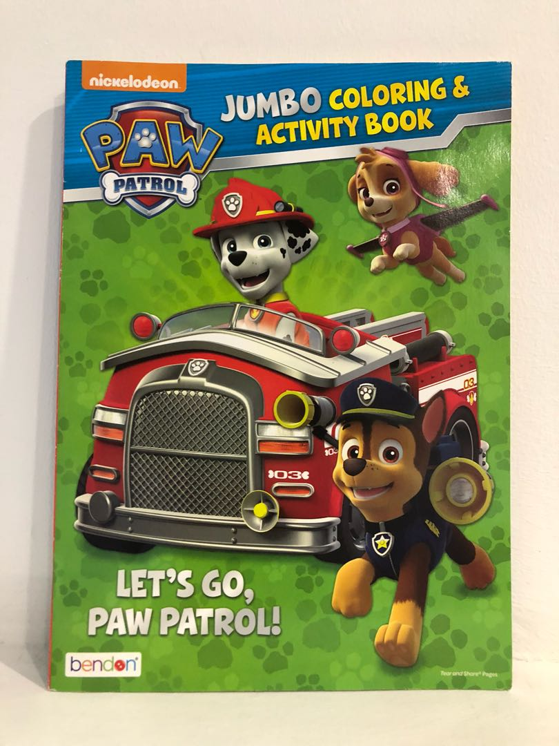 Paw Patrol Jumbo Coloring Activity Book