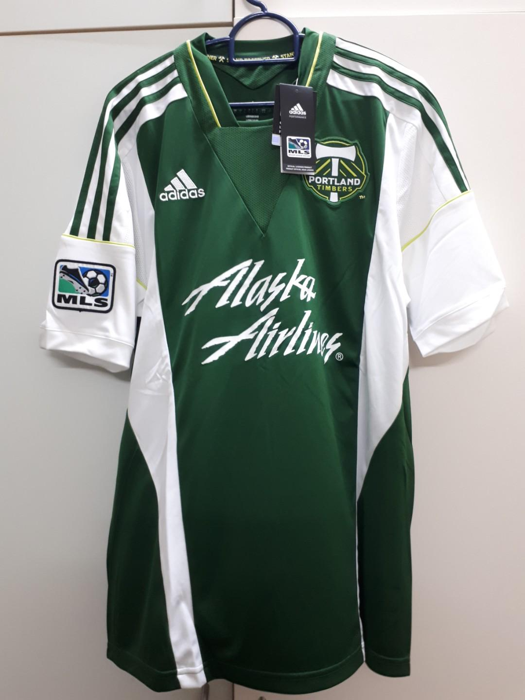 the latest ac5cf 26354 Portland Timbers FC Home jersey, Size L, MLS jersey, Sports ...