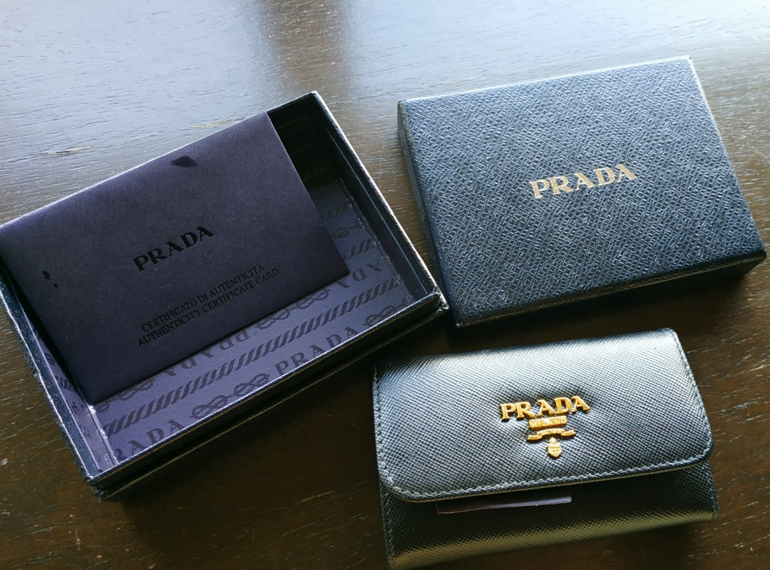 6c7382384f get prada key holder wallet saffiano luxury bags wallets wallets on  carousell 0ad93 043eb
