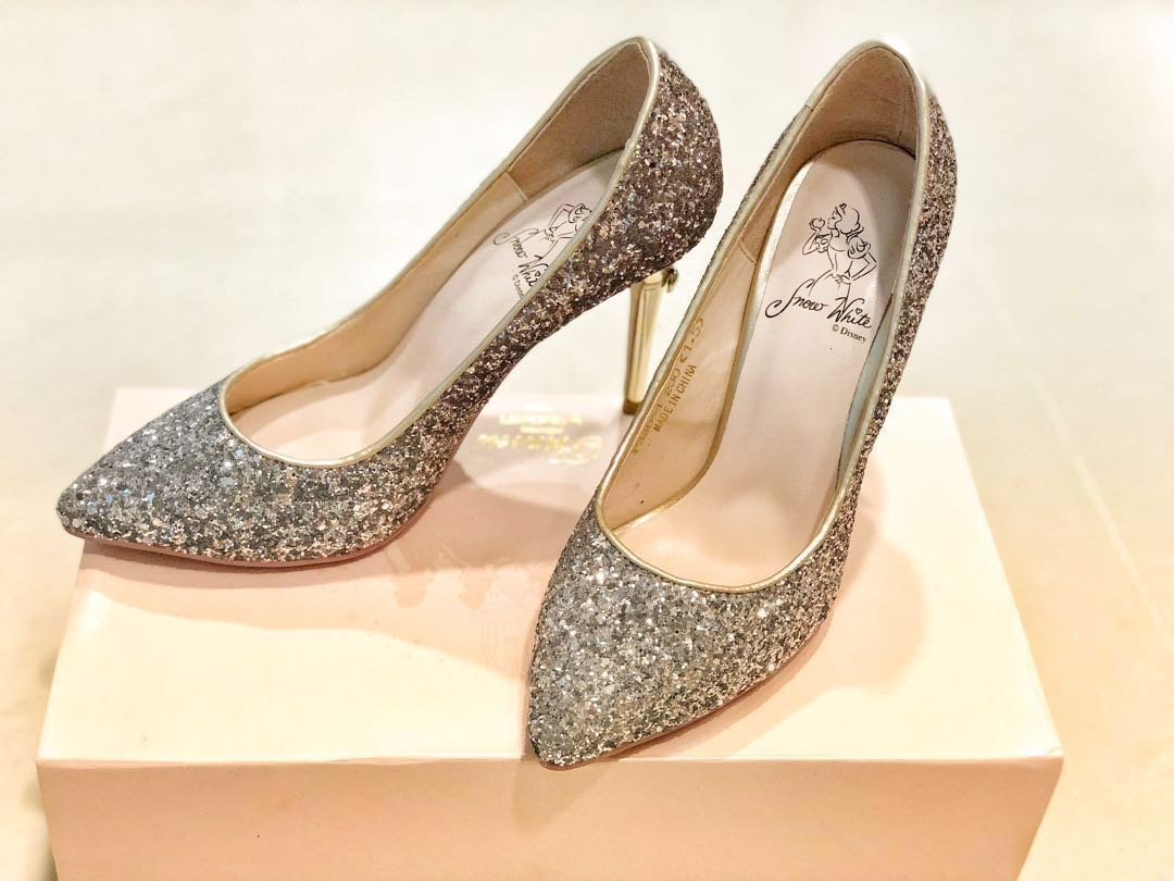 Pre-loved Grace gift high heels bling bling diamond shoes wedding ...