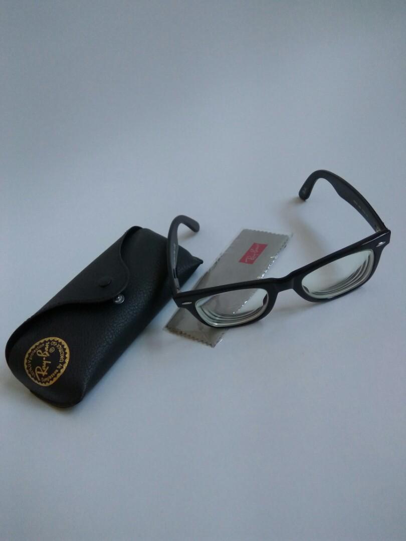 4ff2fe6399e1a Pre-owned Ray-Ban Wayfarer eyeglasses (with prescribed lenses ...