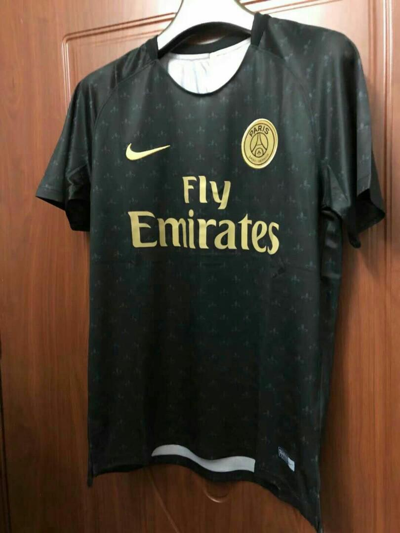 cheap for discount d1bb9 fc5da PSG 18-19 Away Prematch Kit, Sports, Sports Apparel on Carousell
