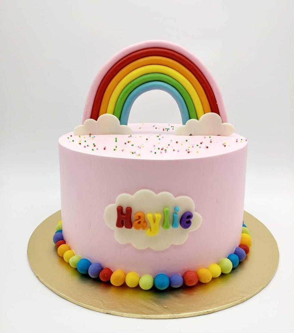 Rainbow Theme Cake Food Drinks Baked Goods On Carousell
