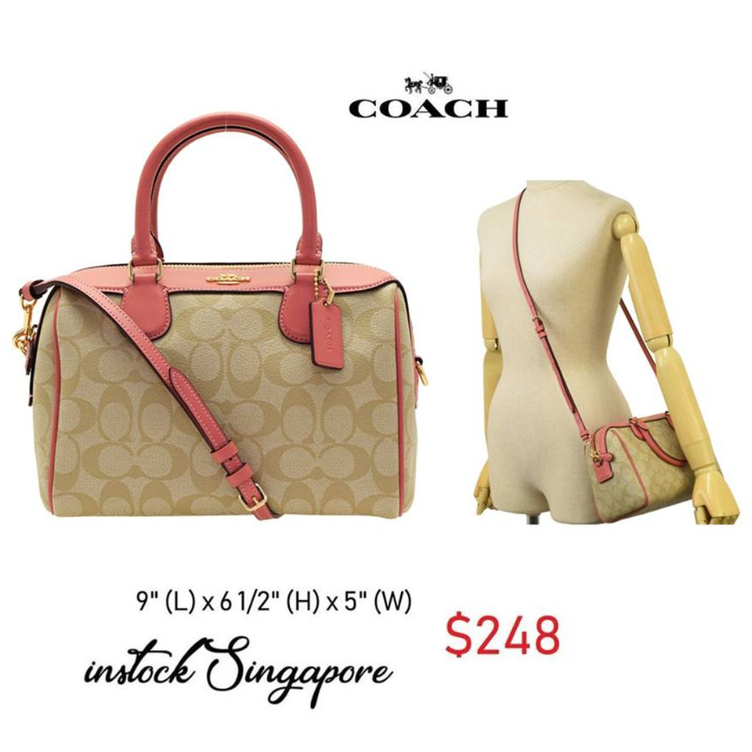 595462747f ... reduced ready stock authentic new coach mini bennett satchel in signature  canvas coach f32203 luxury bags