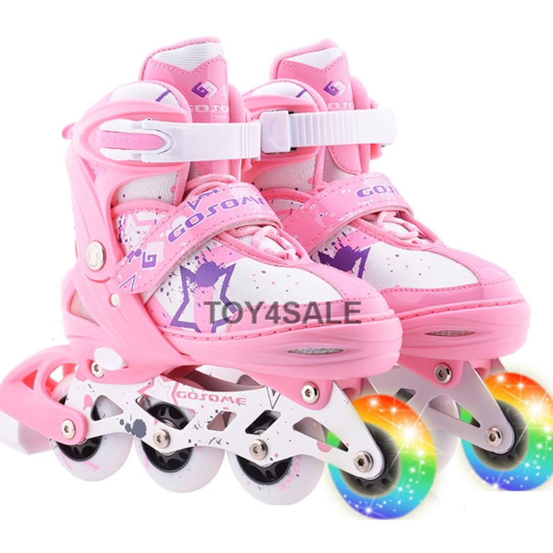 Rollerblade Inline Skate Gosome + All PU Wheels Adjustable Shoe Size Kasut  Roda 8839ff8bc7