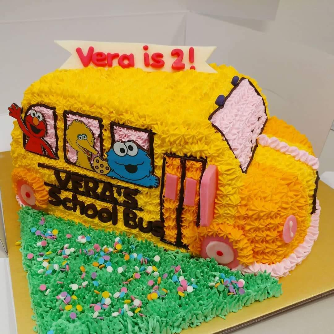 Tremendous School Bus Theme Cake Food Drinks Baked Goods On Carousell Personalised Birthday Cards Cominlily Jamesorg