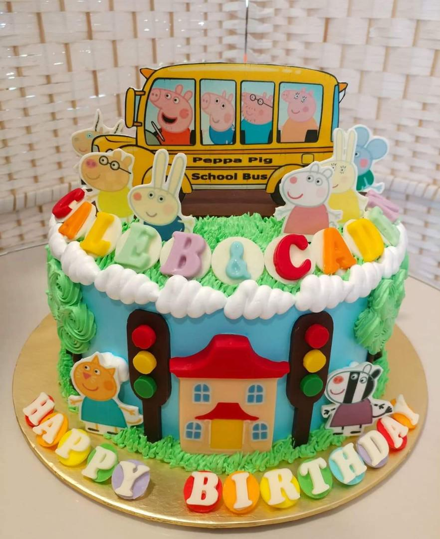 Excellent School Bus Theme Cake Food Drinks Baked Goods On Carousell Personalised Birthday Cards Cominlily Jamesorg