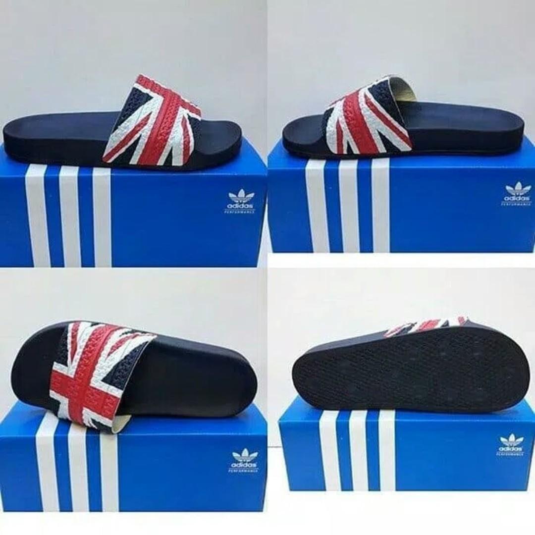 81ab93c7f8d Sendal adidas adilette original black navy logo england