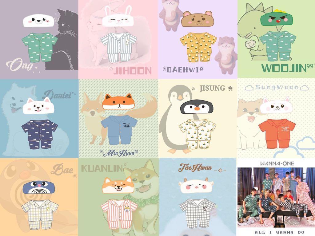 Sg Go Wanna One 20cm Doll Pyjamas Entertainment K Wave On Carousell