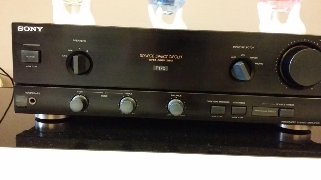 Sony UK speaker and amplifier set, Electronics, Audio on