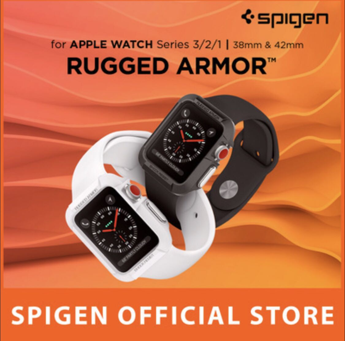 premium selection c01bf a3be0 Spigen Apple Watch 3 / 2 / 1 (38mm) Rugged Armor Pro Case