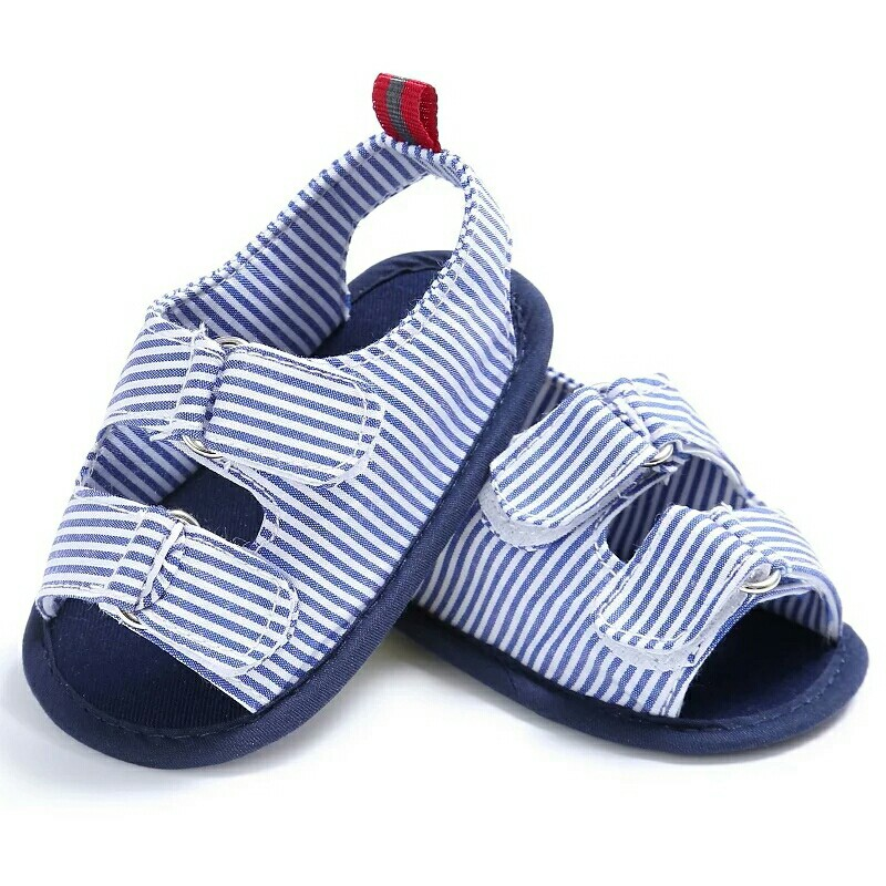 42331d5937bc Summer Baby Boy Shoes Newborn Boys Kids First Walkers Striped Crib ...