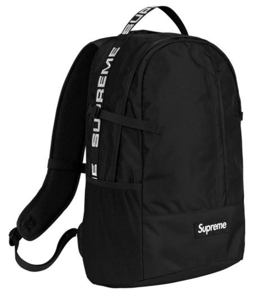 6058e7ab20d Supreme Backpack SS18 Black, Men's Fashion, Bags & Wallets ...